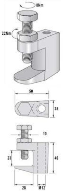 Clip de sujeción B-Clamp esquema
